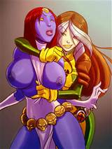 Mystique flashing her tits assisted Rogue - Shoogerbare