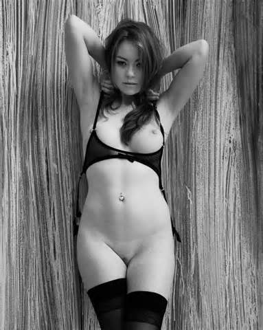 Black And White Sexy Girl In Lingerie Nude Photo In Homemade Porn