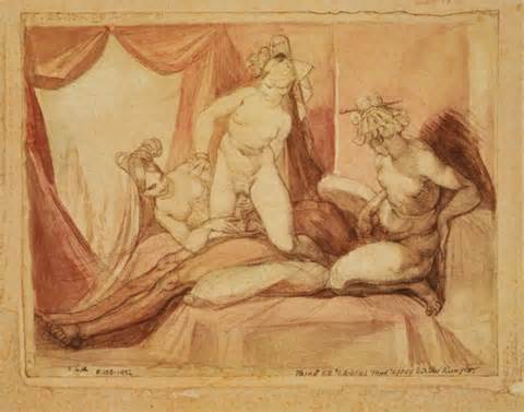 Erotic Scene With A Man And Three Women By Henry Fuseli