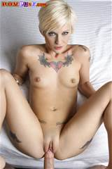 Tattooed Blonde Kleio With Small Pierced Tits Takes Dick From Your